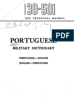 TM 30-501 Portuguese Military Dictionary 1944