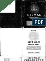 TM 30-606 German Phrase Book 1943