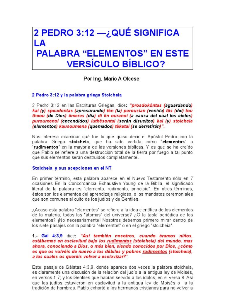 2 pedro 310 13 y el significiado del vocablo elementos urtaz Images