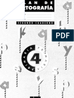Plan de ortograf쟠SM, cuaderno 2