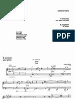 Berio - 6 Encores for Piano