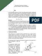 Trabajo II - Velocidad y Aceleracion Relativa y Mov Relativo a Altas Velocidades