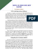 JESUCRISTO ES HIJO DE DAVID Y  LA IMPORTANCIA QUE TIENE ESTO PARA USTED