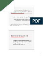Behaviral Engagement