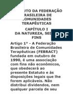 ESTATUTO DA FEDERAÇÃO BRASILEIRA DE COMUNIDADES TERAPÊUTICAS