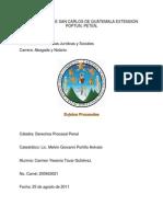 Sujetos Procesales D. Procesal Penal