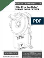 GDO6v2 Slim-Drive Easy Roller Manual