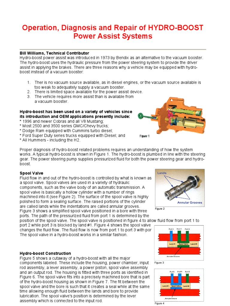 Operation, Diagnosis and Repair of HYDRO-BOOST | Valve | Brake