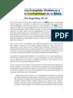 LA PROFECÍA CUMPLIDA ES LA EVIDENCIA A FAVOR DE LA CONFIABILIDAD DE LA BIBLIA