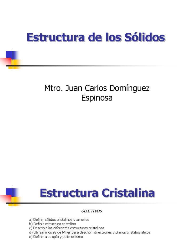 Estructura Cristalina Ui Expo 1 Estructura Cristalina