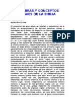 PALABRAS Y CONCEPTOS CLAVES DE LA BIBLIA