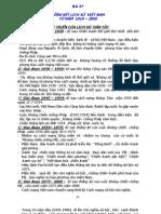 lịch sử lớp 12 -  Bài 27 - TỔNG KẾT LỊCH SỬ  VIỆT NAM TỪ NĂM  1919 – 2000