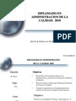 Programa Diplomado en Admin is Trac Ion de La Calidad 2010