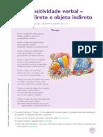 Gramatica 7 Transitividade Verbal Objeto Direto Objeto Indireto