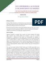 USTED PUEDE CONTRIBUIR A ACELERAR EL REGRESO DE JESUCRISTO AL MUNDO