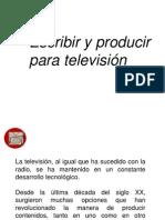 Escribir y Producir Para Television