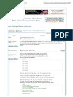 CCS _ View topic - Low Voltage Detect interrupt