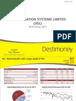 Des Ti Money Research JISL Reiterating BUY
