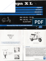 VESPA PK XL - Manual de Uso y Entretenimiento