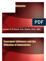 Consumer Influence and Diffusion of Innovation