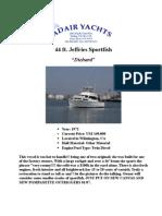 44 ft Jeffries Sportfish Specs.