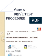 Wcdma Drive Test Procedure