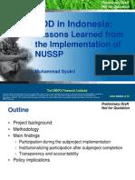 Community-driven Development  in Indonesia
