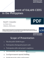 CDD Assessment of KALAHI-CIDSS in the Philippines