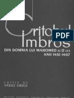 Din Domnia Lui Mahomed Al II- Lea