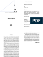 Studies in Kashmiri Linguistics