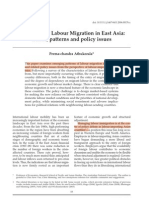 International Labour Migration in East Asia- Trends, Patterns and Policy Issues
