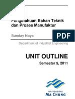 Kontrak Kuliah Pengetahuan Bahan Teknik Dan Proses Manufaktur