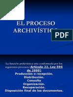 El proceso archivistico