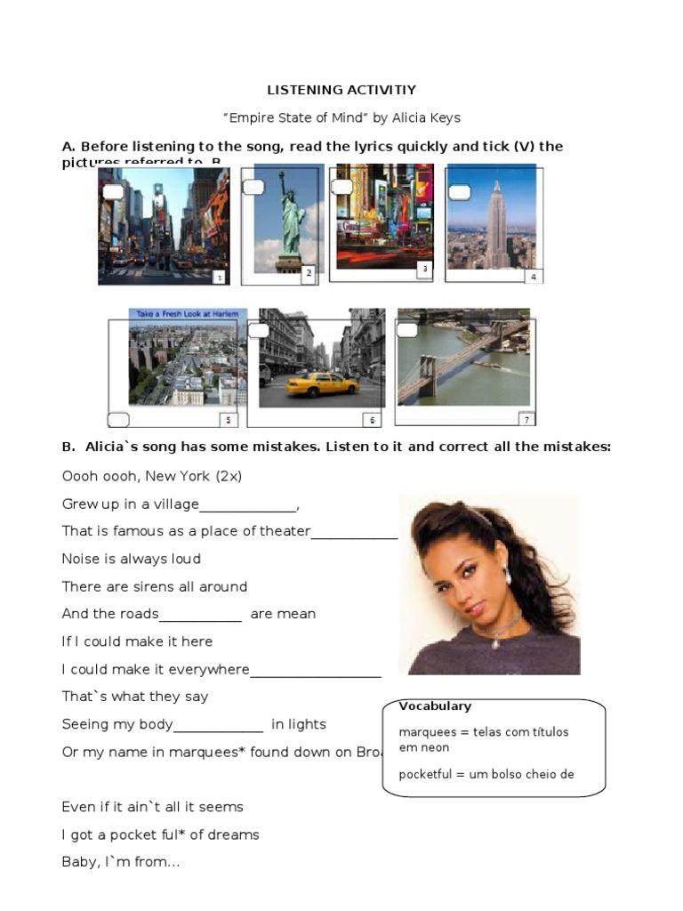 New York Song Alicia Keys Lyrics - Alicia Keys Songs No One