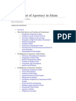 Punishment of Apostacy in Islam