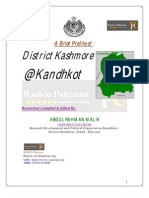 District Kashmore @Kandhkot Profile
