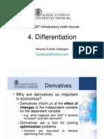 4.1. Differentiation
