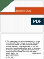 Endterm Quiz