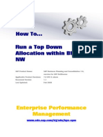 How to Run a Top Down Allocation Within BPC NW
