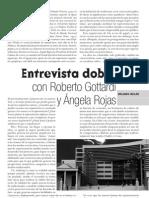 """""""Entrevista doble"""", con Roberto Gottardi y Ángela Rojas"""