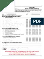 Form Survey Kepuasan Pelanggan