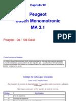 Injeção Bosch Monomotronic MA 3.0/3.1/3.2A Peugeot 106
