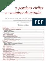 Pensions Civiles Militaires Retraite