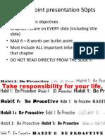 Sample PowerPoint for Habit 1