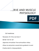 Nerve and Muscle Physiology