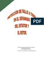 Proteccion de Fallo a Tierra en El Devanada Del Estator y El Rotor.