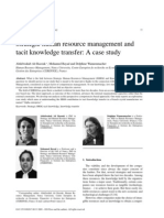 Strategic HRM and Tactic Knowledge Transfer