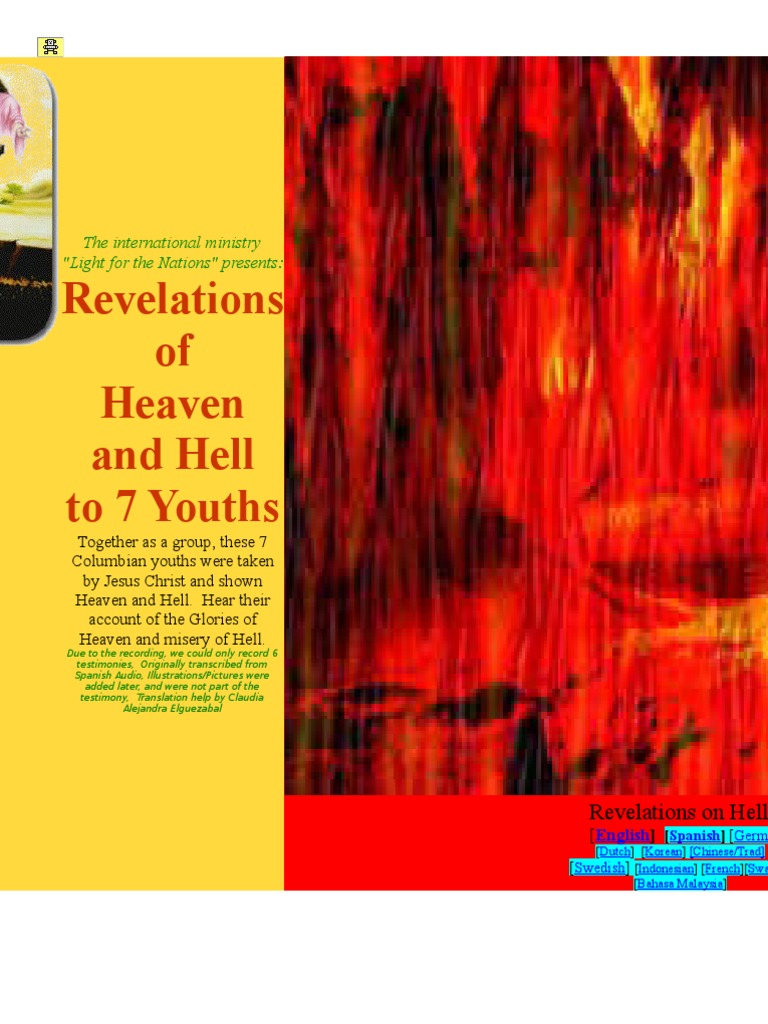 Revelation of Hell of the 7 columbian youths | Glory (Religion) | Heaven