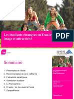 Image & attractivité de la France auprès des étudiants étrangers