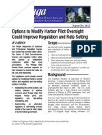 Options to Modify Harbor Pilot Oversight Could Improve Regulation and Rate Setting